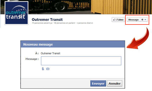 Message Outremer Transit Facebook