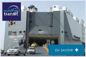Transport maritime de véhicules Outre Mer