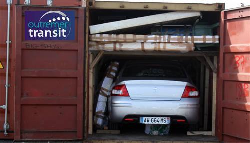 Transport d'un véhicule Réunion-Métropole et effets personnels avec mezzanine
