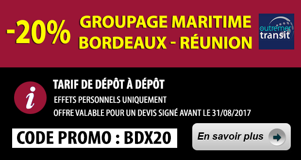 Promo 20% Reduction Bordeaux Reunion