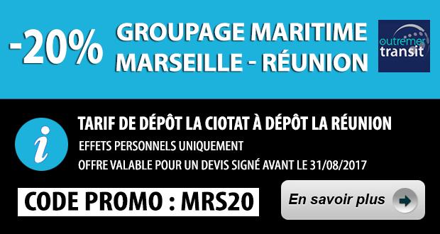 Promo 20% Reduction Marseille Reunion