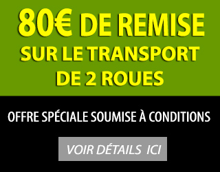 80 euros de reduction sur votre devis transport moto